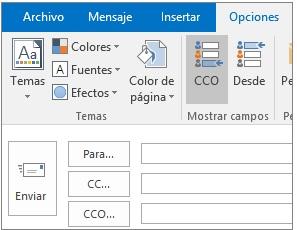Enviar correo con copia oculta en Outlook