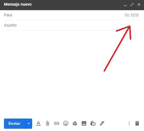 Enviar correo electronico en Gmail