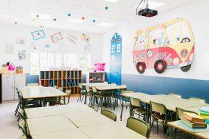 Imagen de una clase infantil protección de datos en centros educativos