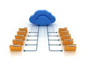 Imagen conceptual almacenar archivos en la nube