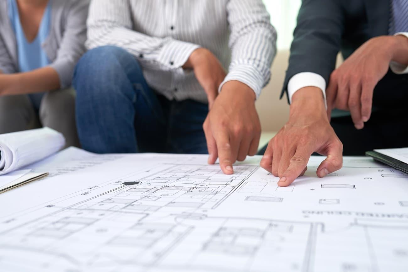 Imagen protección datos construcción planos