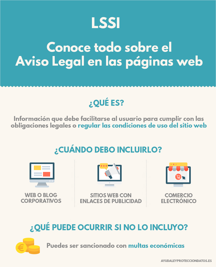 aviso legal para paginas web proteccion de datos