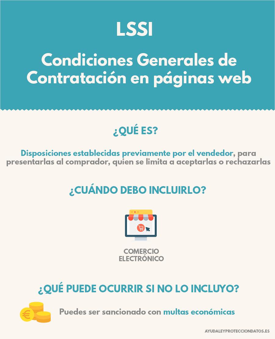 condiciones generales de contratacion paginas web proteccion de datos