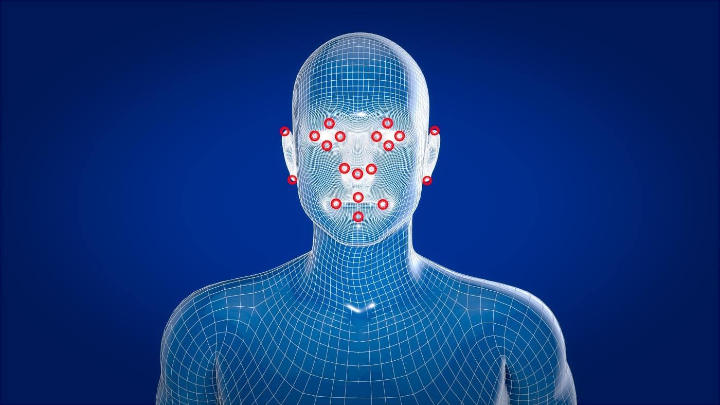 Imagen conceptual de reconocimiento facial