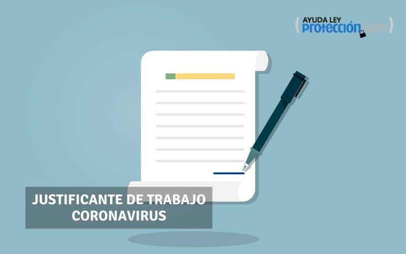 Justificante de trabajo Coronavirus