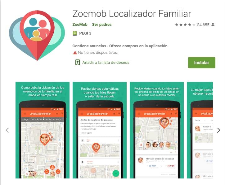 Zoemob Localizador familiar gps