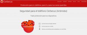 Cerberus localizar un móvil