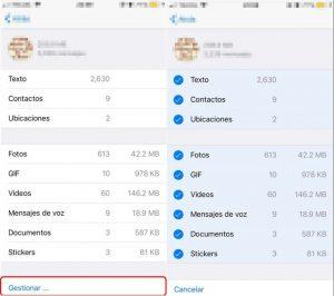 Captura pantalla para borrar datos de whatsapp en iphone 3