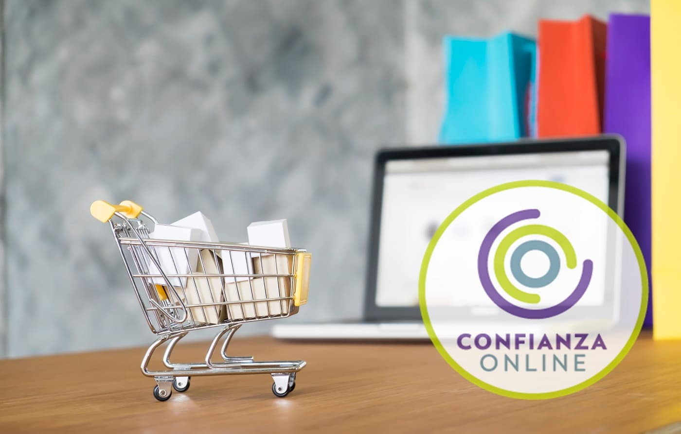 Concepto ecommerce Confianza online