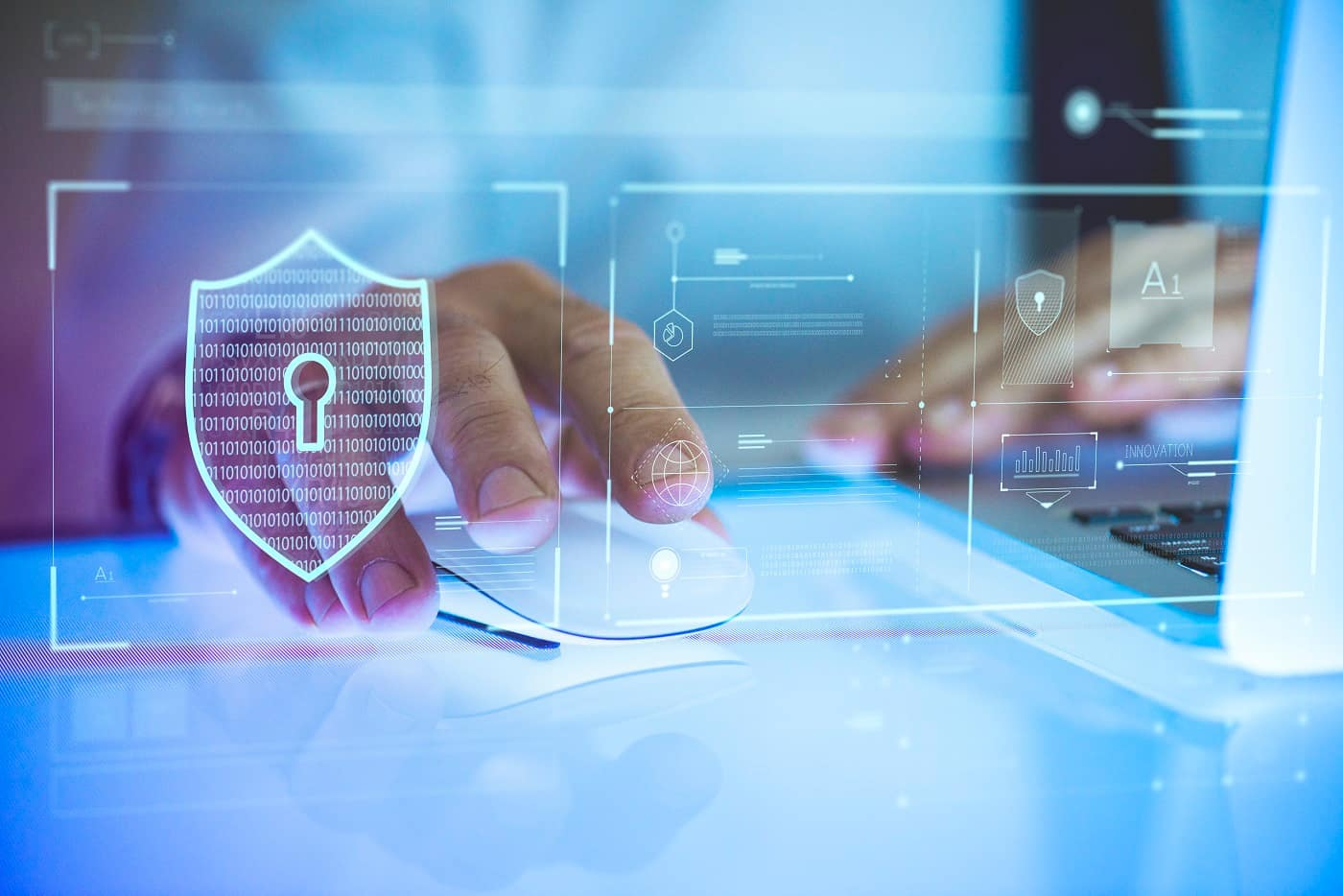 Concepto seguridad ciberataque