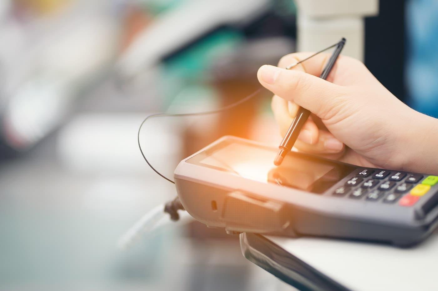 firma biométrica pago con tarjeta