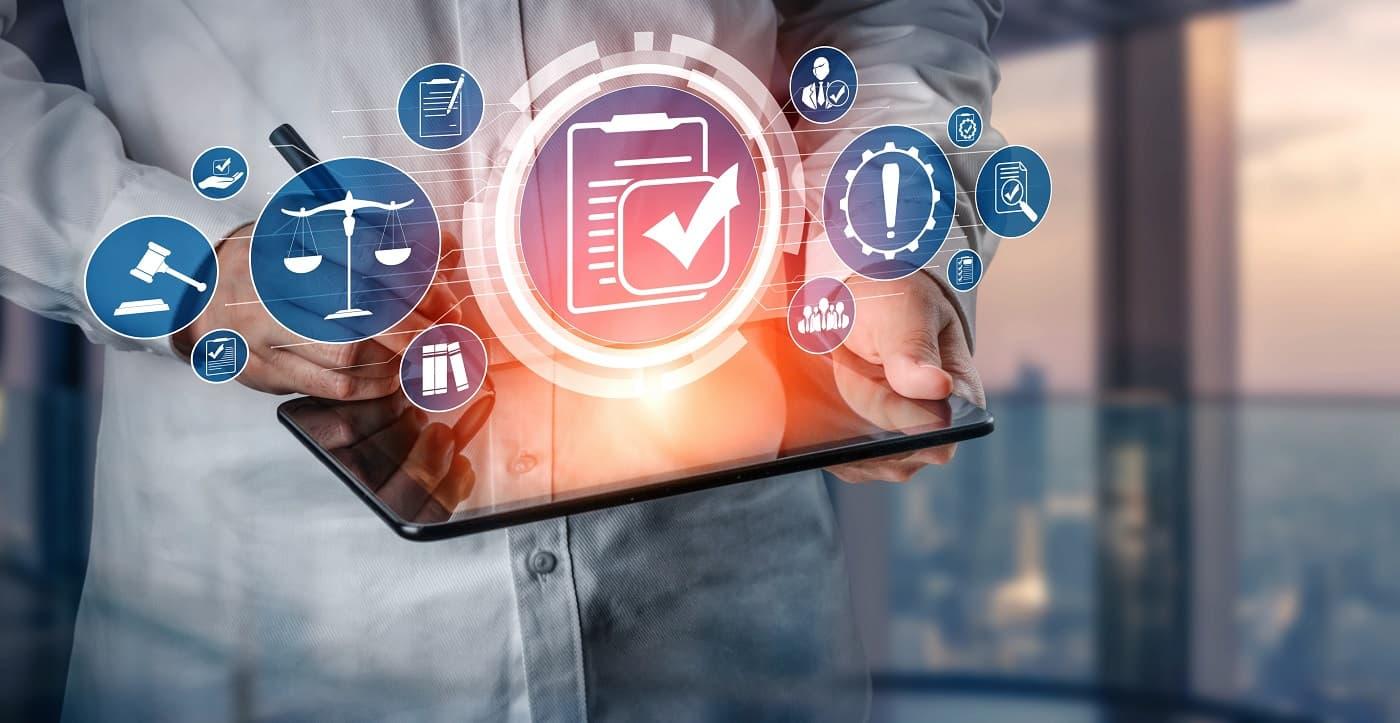 Imagen conceptual de firma biométrica