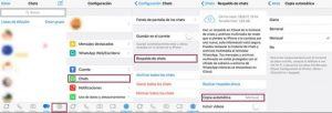 Pantalla iphone recuperar chats whatsapp