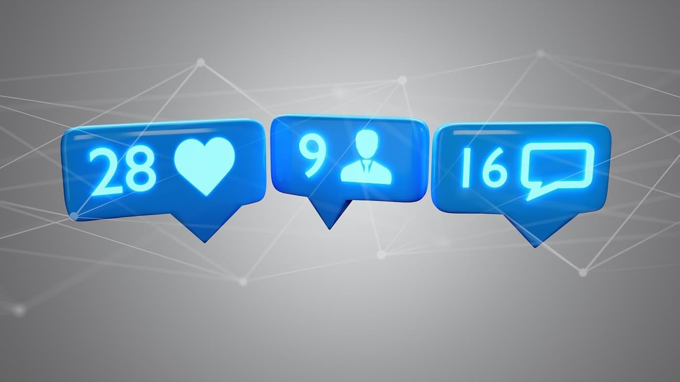 Concepto seguidores y likes spam instagram