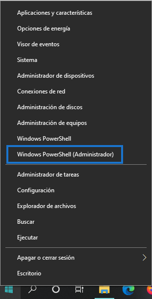 Captura pantalla PoweShell administrador formatear disco duro externo