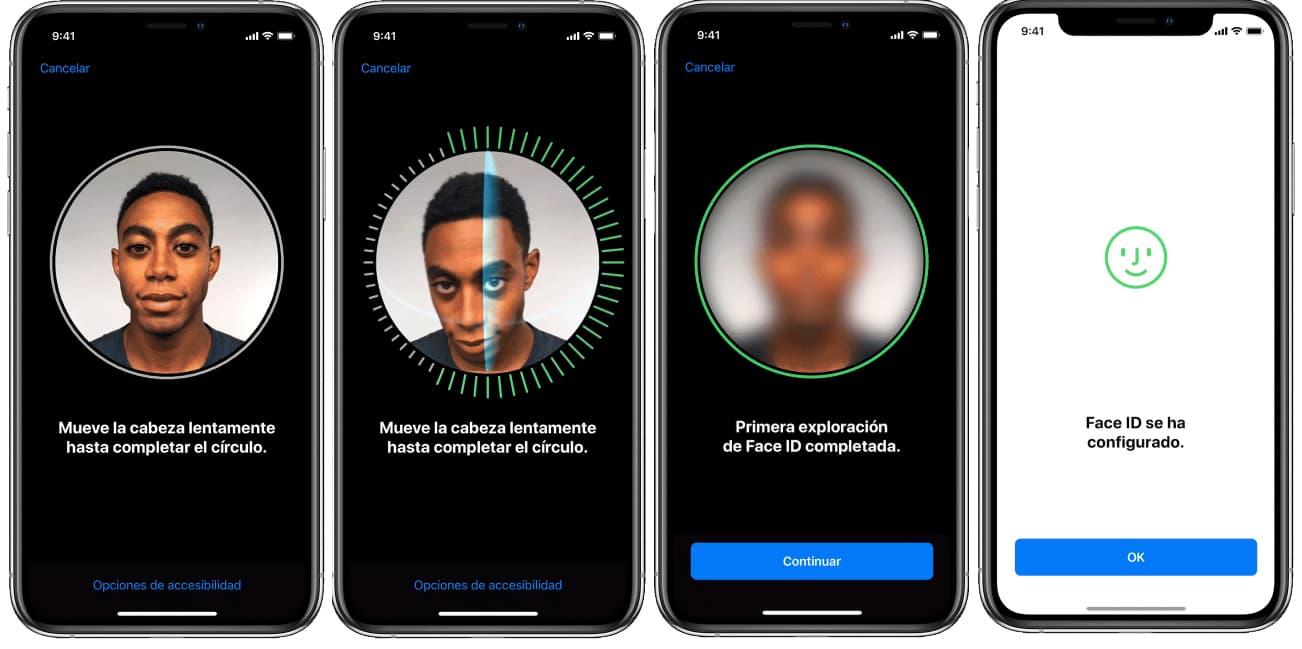 Reconocimiento facial iphone con Face ID