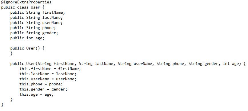 Ejemplo estructuras bases de datos firebase