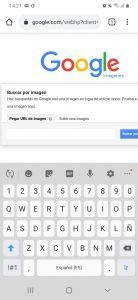 Segundo paso búsqueda inversa de imágenes en el móvil con Google