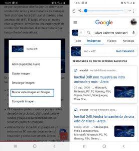 Tercer paso búsqueda inversa de imágenes en el móvil con Google