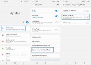 Compartir datos bluetooth
