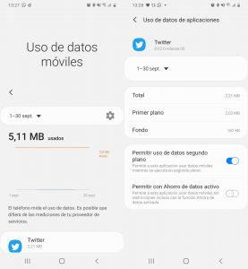 Datos móviles apps