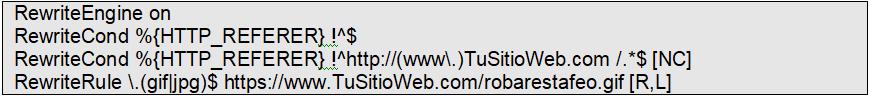 código bloquear hotlinking apache poner imagen alternativa