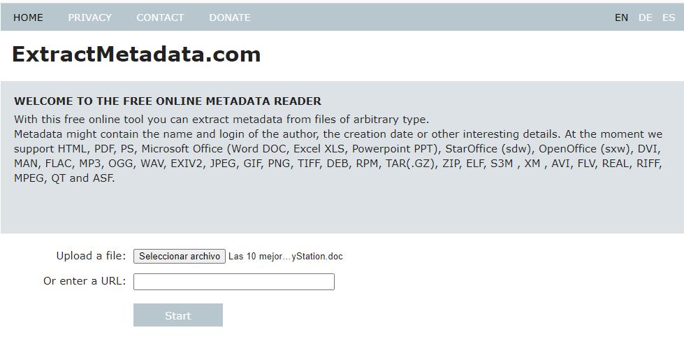 ExtractMetadata