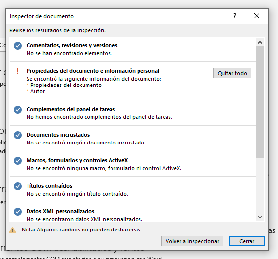 metadatos que contiene el documento word