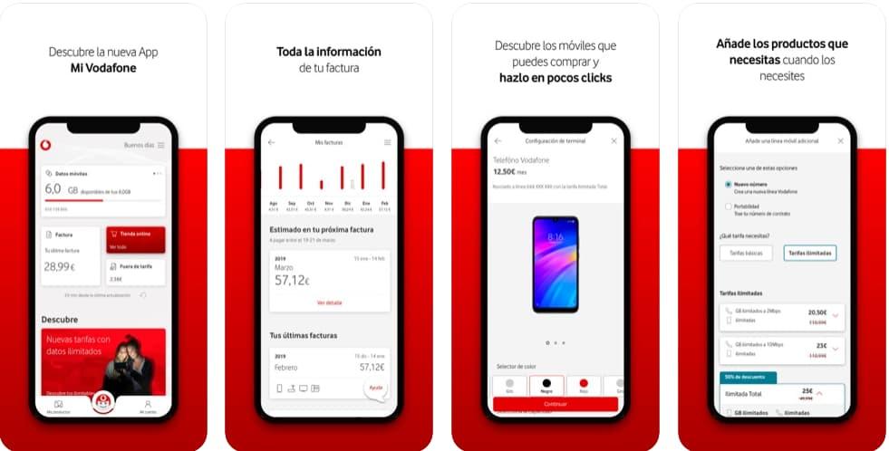 Consultar datos en app vodafone