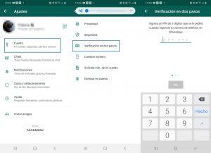verificacion dos pasos evitar Secuestro de WhatsApp