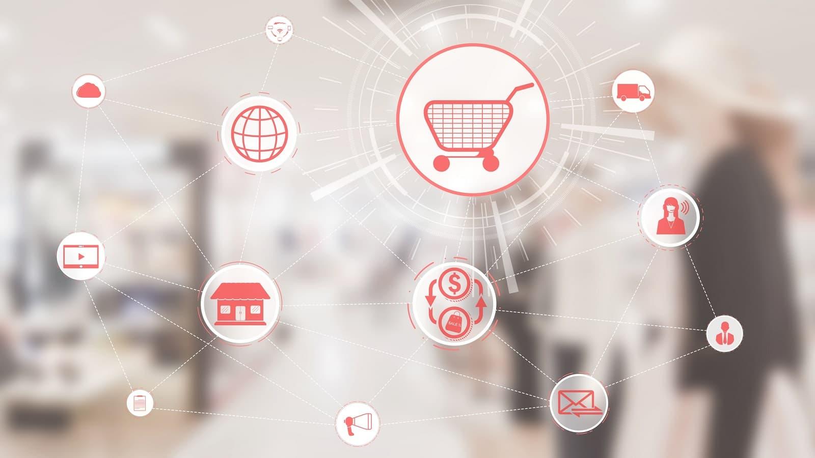 Imagen conceptual de compra online con pago contra reembolso