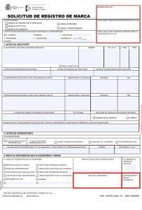 Formulario para solicitar registro patentes y marcas