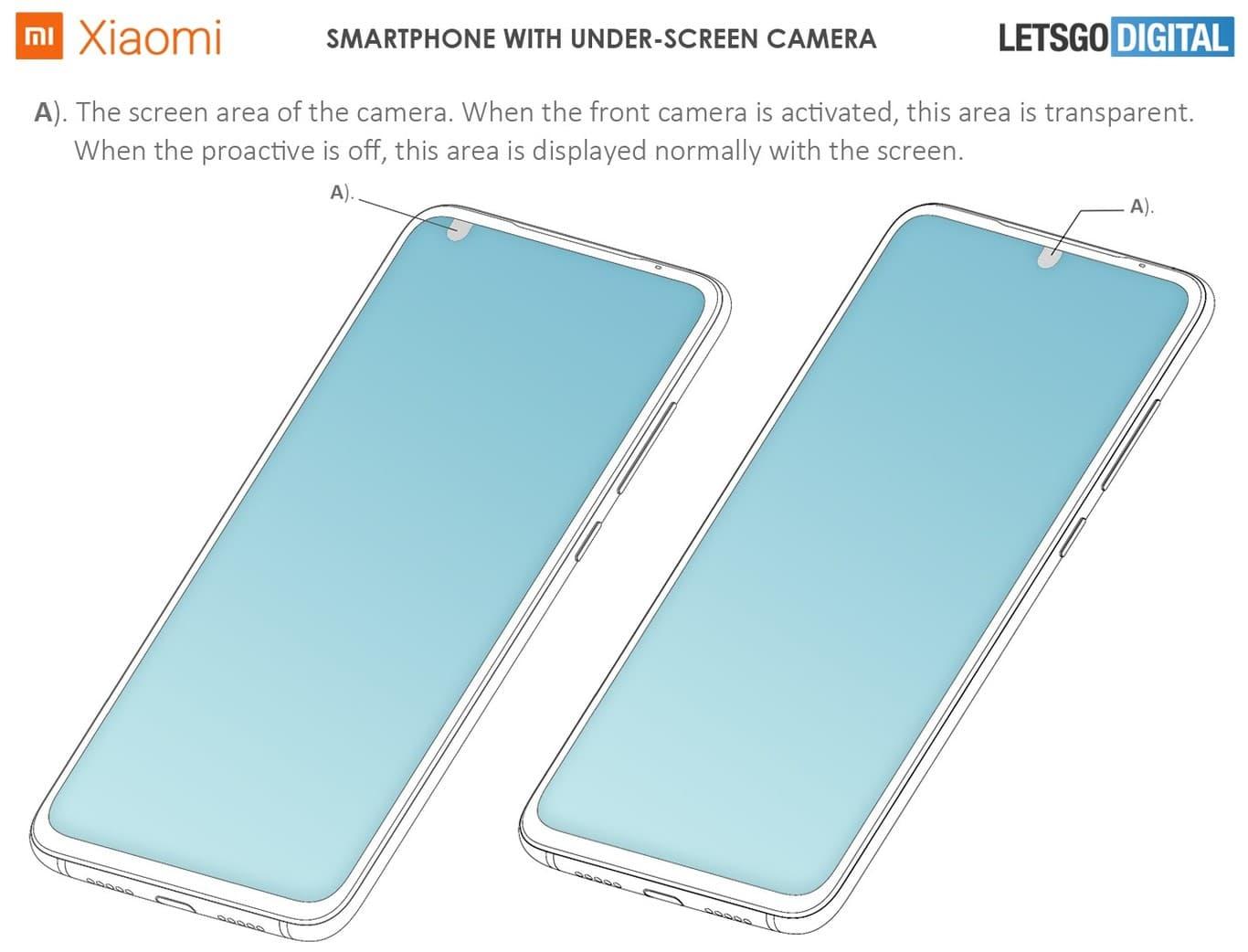 Patente Xiaomi cámaras frontales en la parte inferior de la pantalla