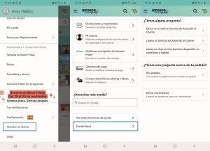 reclamaciones amazon móvil