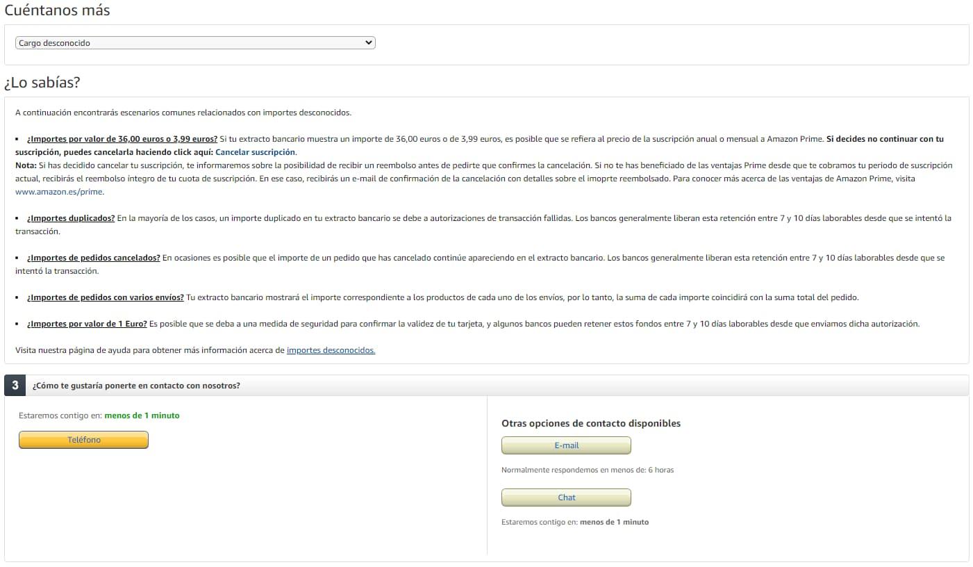 reclamaciones amazon email