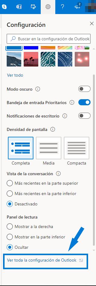 Configuración Outlook
