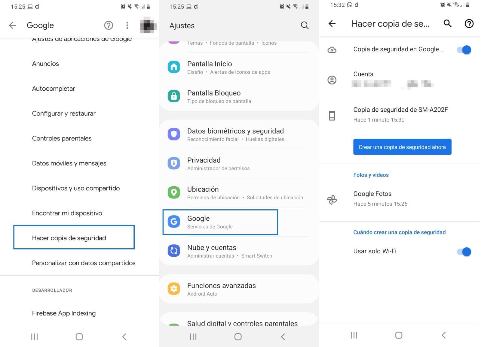 Recuperar la copia de seguridad en Android desde Google Drive