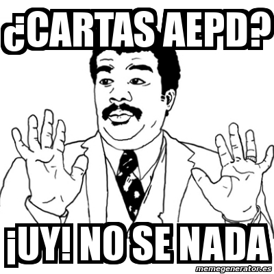 Cartas AEPD