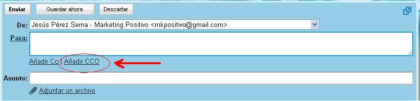 copia ocualta en gmail